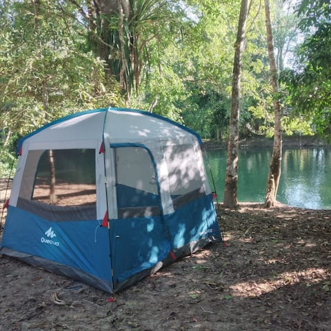 Kamperen in Lacandon Forest - 1 Camping K 'ax