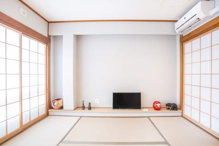 福ゲストハウス 玉造 デザイナーズハウス 贅沢な空間 玉造駅2分 3F