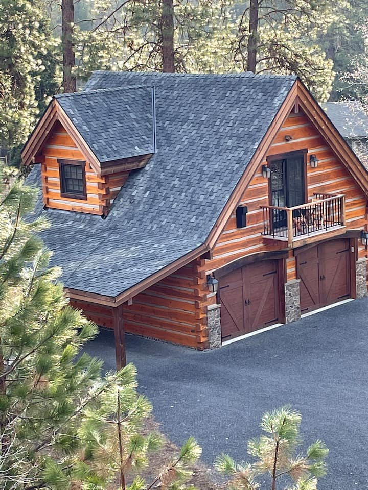 Pacific Crest Cabin -  Custom Log Carriage House