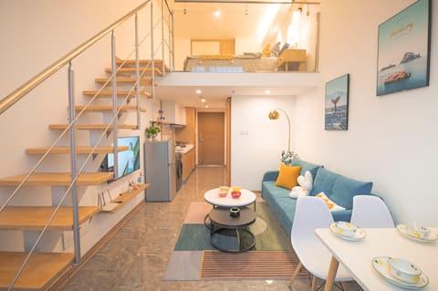 【听波小筑】Loft公寓大床房,近滇池国际会展中心、滇池