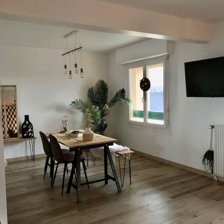 Appartement rénové, proche 4voies RENNES-NANTES