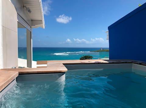 Appartement DEEP BLUE vue mer - piscine privative