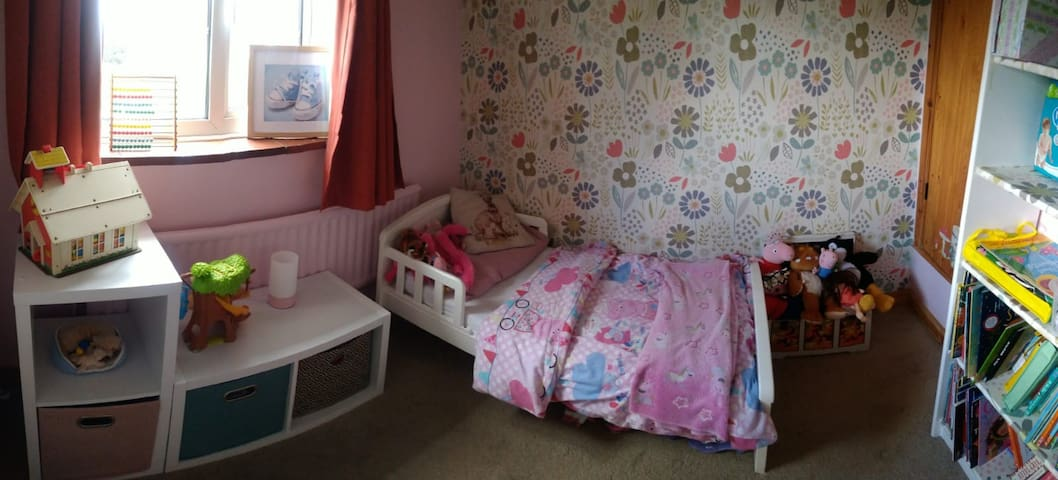 3rd Bed. Can fit our floor mattress for an older child or adult if reqd.