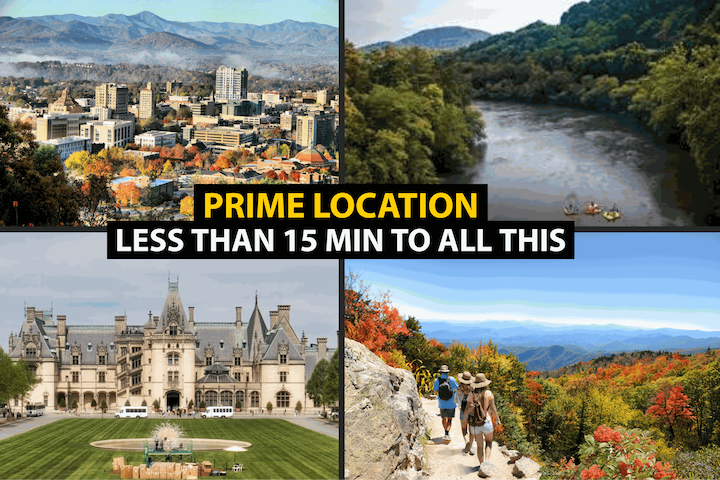 Location, Location, Location! Hiking, Downtown Asheville, Zen Tubing, and The Biltmore are just a few places you can be in less than 15 minutes!