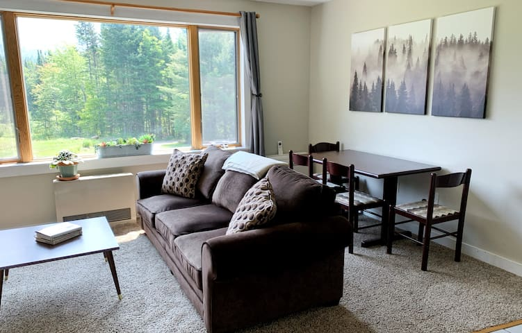 Welcome to Burke View Villa! Set on 11 acres at the end of a dead end, relax in the living room and enjoy the views of Burke Mountain right out the window.