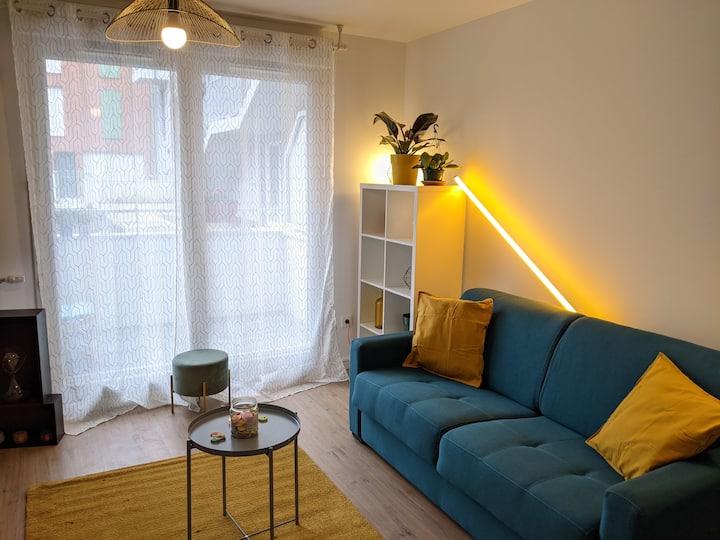 Grand studio lumineux et neuf aux portes de Paris
