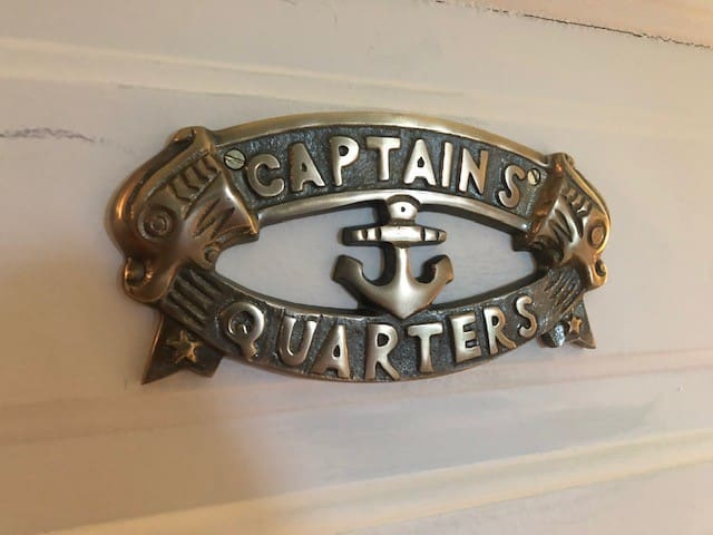 Captain's Quarters - the Main Bedroom, Queen Sized Bed, Spacious Room, Closet.