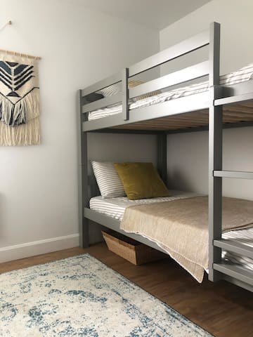 The second bedroom (with twin bunkbed).