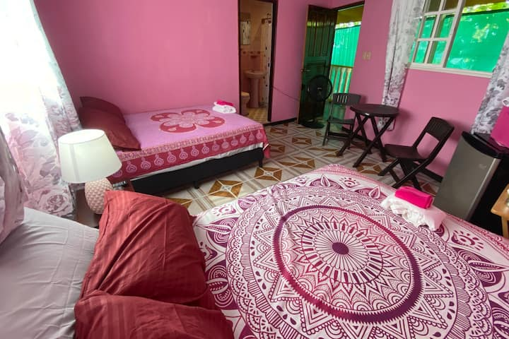Rose Room for 4 on Playa Las Comadres, Panama