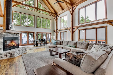 Grand Lakefront Home