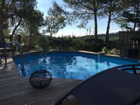Villa en bordure de colline*piscine*clim*netflix