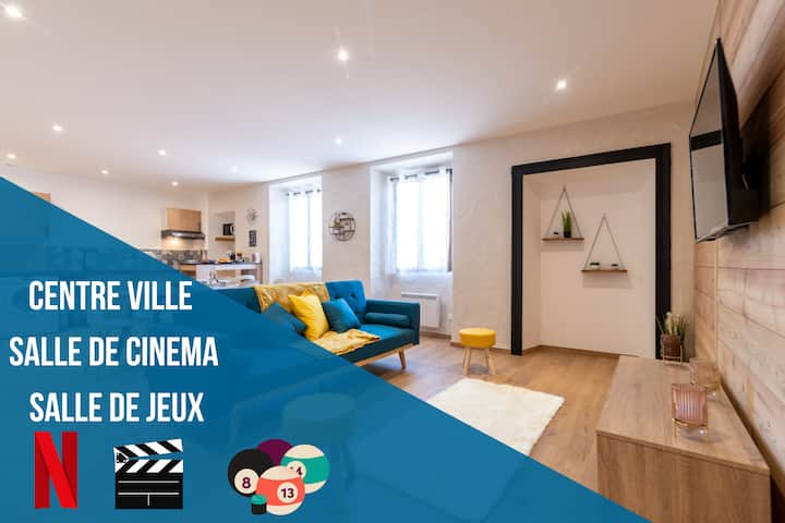 ★ CINEMA ★SALLE DE JEUX★ Centre-ville ★ PARKING PRIVEE