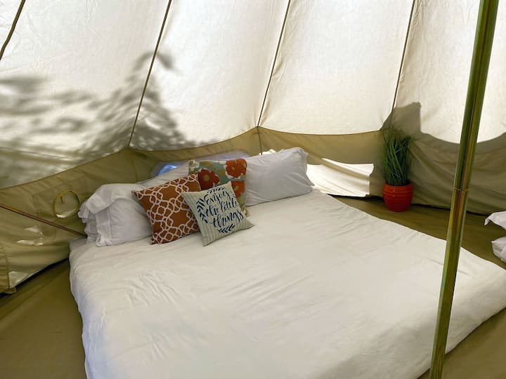 #1WineCountryDeluxe Glamping Yurt/Jacuzzi/BBQ/Fire