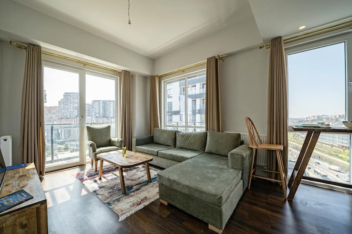 A modern new furnished residence, -1 bedroom