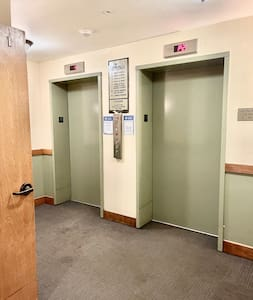 Elevators service the parking garage and all areas needed to enjoy our home