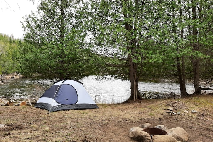 Beautiful secluded riverfront campsite