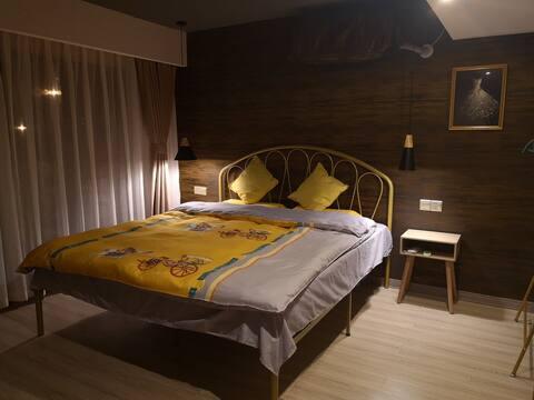 艾艺别院-万达旁的静谧小院-金色房间(休闲、汗蒸)