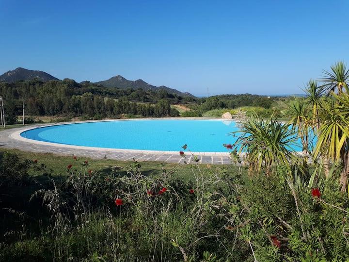 Vila s výhledem na moře a velkým bazénem