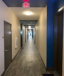 Well lit hallway