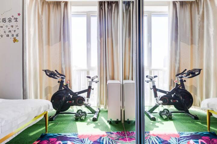 青睐-【幻境】巨幕4K投影落地窗,带动感单车,日式清新风智能家居、双井百子湾四惠传媒大学欢乐谷合生汇