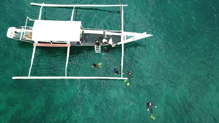 Anilao beach front pool side room 2
