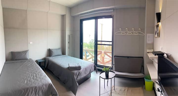 阿里山艾米民宿evi BnB - 山景標準雙床房