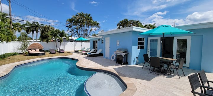 Fantastic 3Bedrooms House with Pool 6mins to Ocean