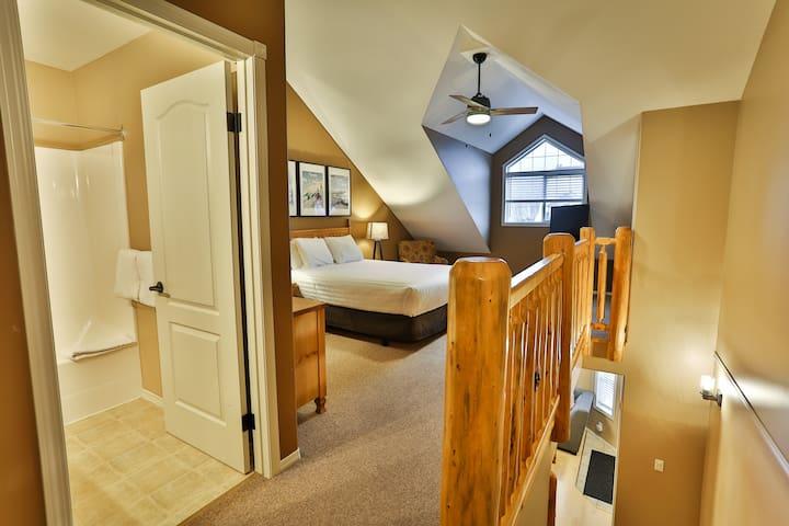 Upstairs master bedroom with ensuite bathroom