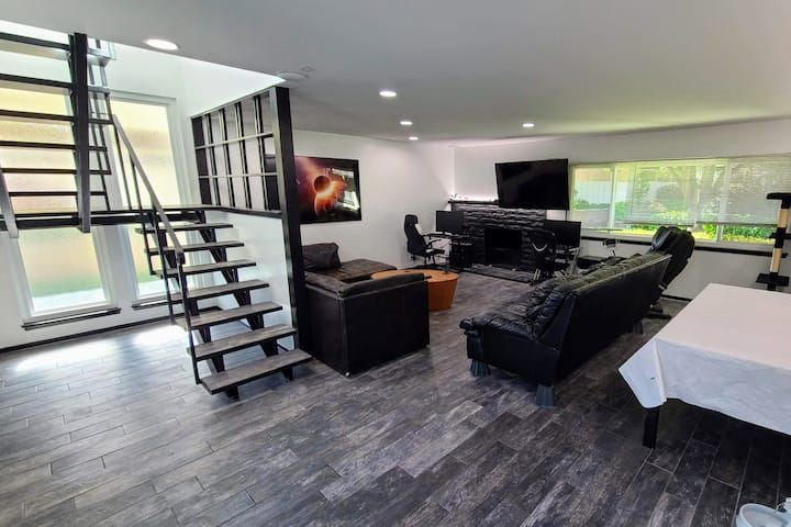 Full suite in a contemporary remodeled smart-home