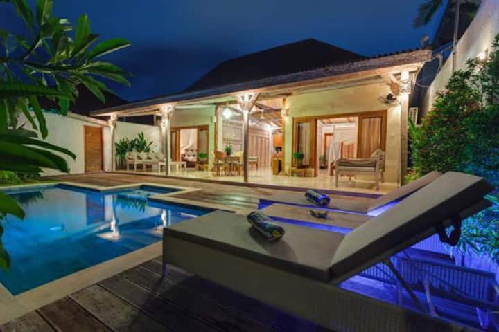 Discounted private 2BR pool villa with king beds