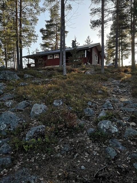 Mökki Punkaharjulla, Saimaan rannalla.
