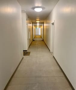 Here's the hallway leading to our front door.