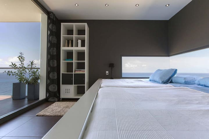 master bedroom with custom-made double queen-size bed