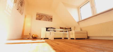 Sonnige 2,5-Zi.-DG-Wohnung, Blick über Bornheim