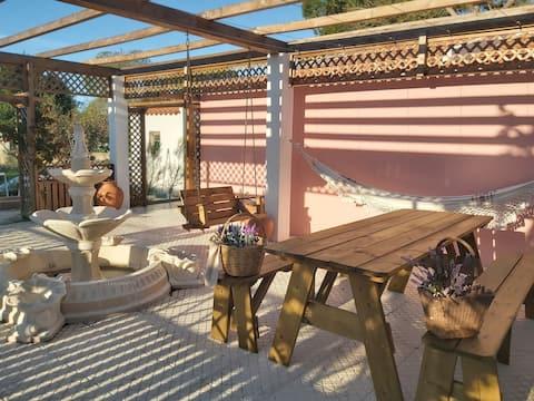 Villa  beautifull garden playground near the beach