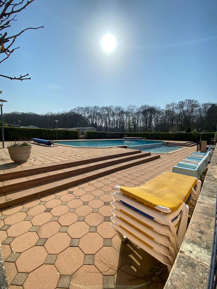 Mobile home domaine privé avec piscine