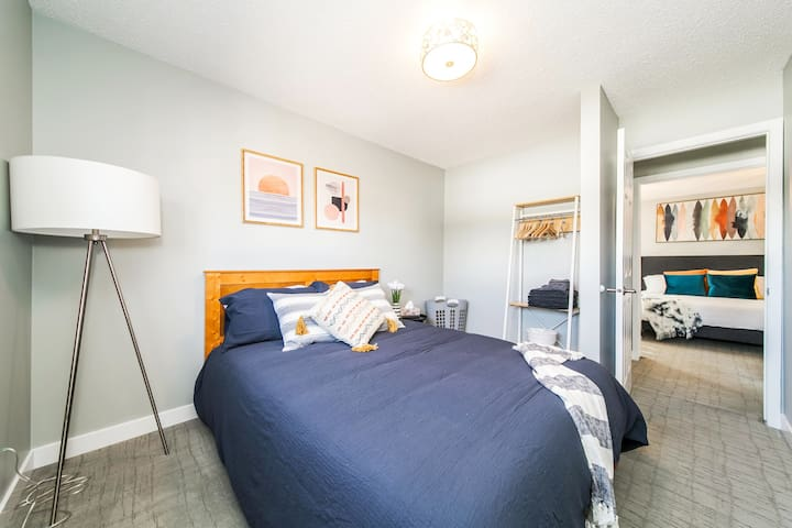 Recharge after a day of fun in the pool in one of the homes spacious bedrooms