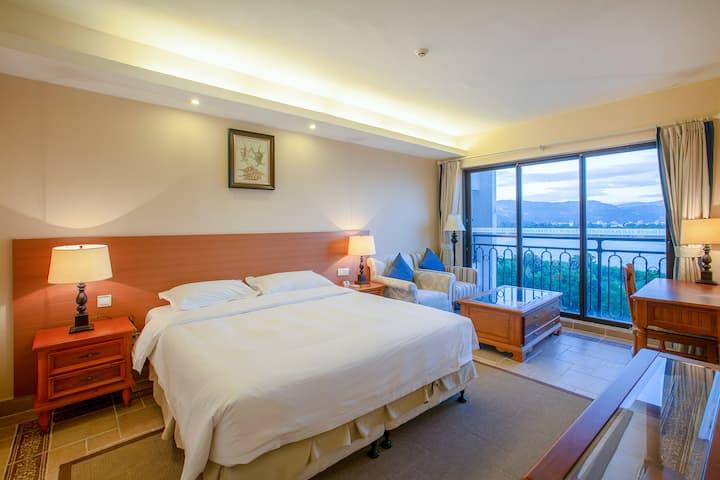 万科双月湾沙滩近海两卧双床房(无厅)