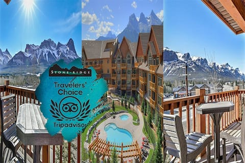 ⭐Hot Tub+Heated Pool⭐180°⛰️View+KingBeds+Gas 🔥Place
