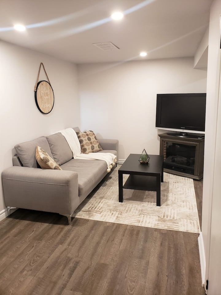 Spacious, Bright and Trendy Basement Apt
