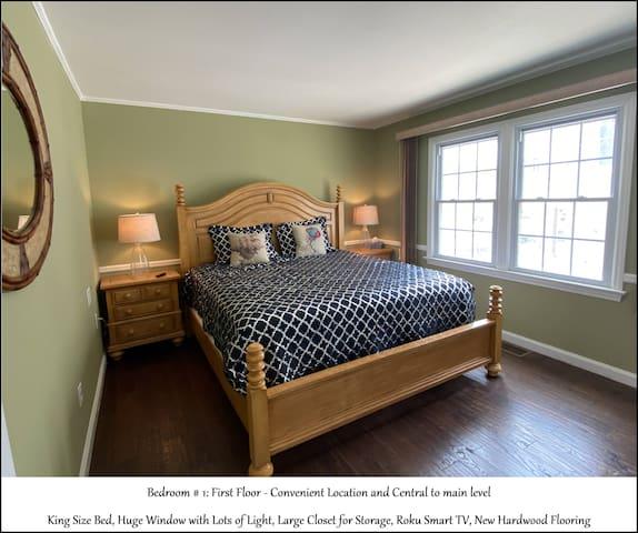 Bedroom #1 of 5 - King Bed - 1st Floor