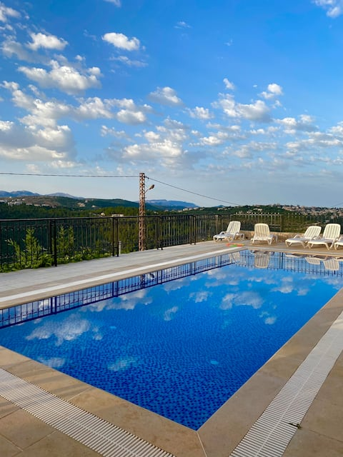 Deir El Qamar apartment in villa with private pool