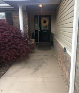 Flat walkway from driveway