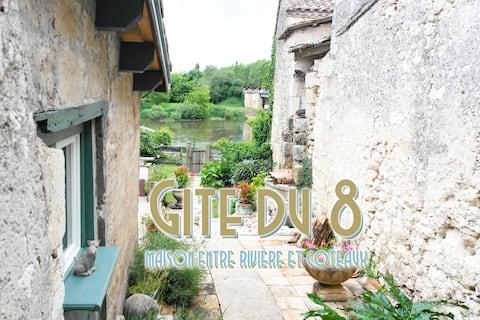 Maison de village avec jardin  vue Dordogne