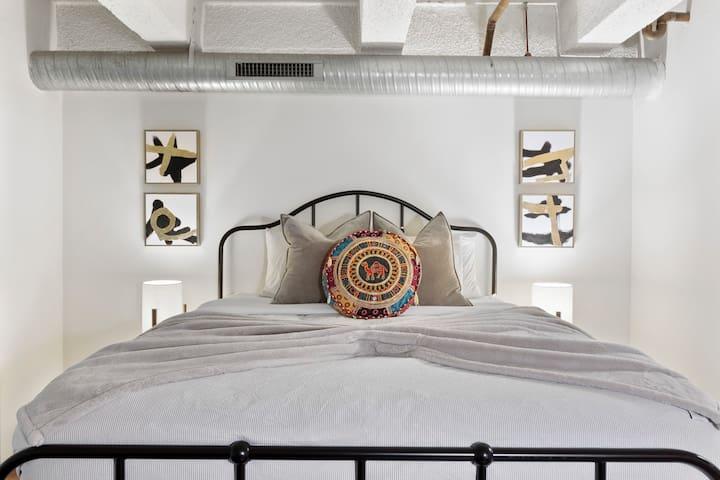 Elegant loft bedroom#2 with queen bed