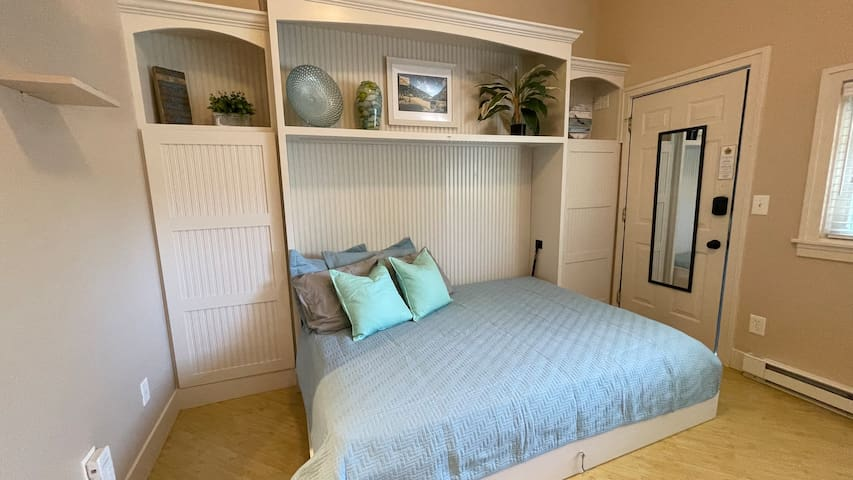 Murphy bed in the open position