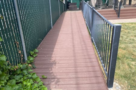 Ramp is wide enough for Wheelchair