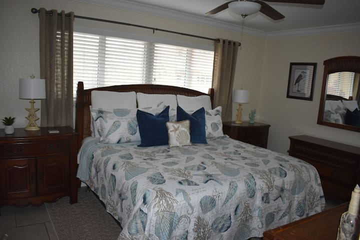 Comfortable master king sized bed