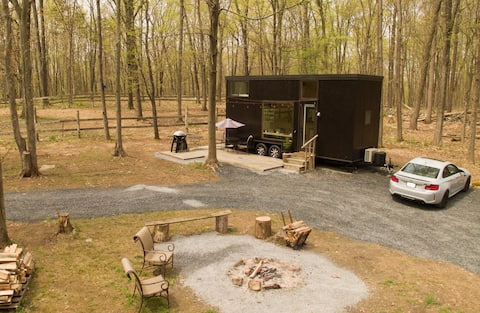 """Get Away to """"Hygge"""" Tiny House on 75 Private Acres"""