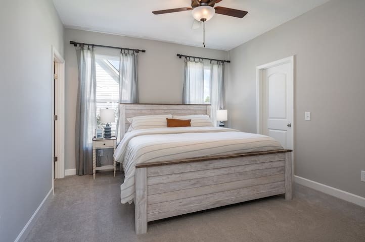 Master Bedroom w/King and walk in closet.